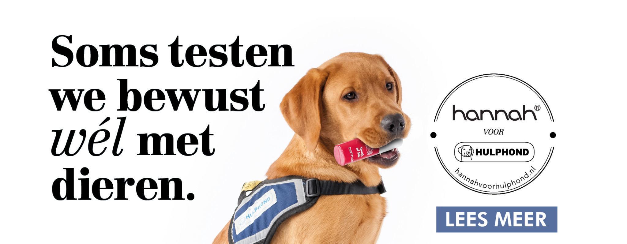Vind de hond in de pot - Win een jaar lang gratis hannah producten